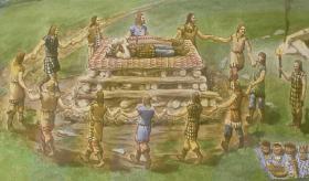 A necrópole prehistórica de Monte dos Niños, con polo menos 14 túmulos funerarios, localízase na parroquia de Santo Estevo de Sedes, ocupando o altiplano do Monte, a 300 metros sobre o nivel do mar.