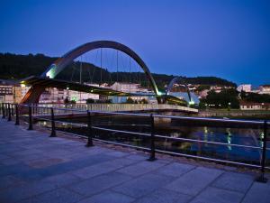 """Ponte sobre o Río Xuvia. 1º premio do I Concurso de Fotografía """"Cidade de Narón"""". Ano 2010."""