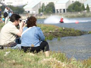 O paseo marítimo de Xuvia é o escenario de múltiples actividades deportivas e culturais