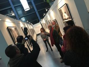 """O Pazo da Cultura acolleu esta tarde a inauguración da exposición """"Airiños Aires, Rosalía"""", de Xurxo Lobato"""