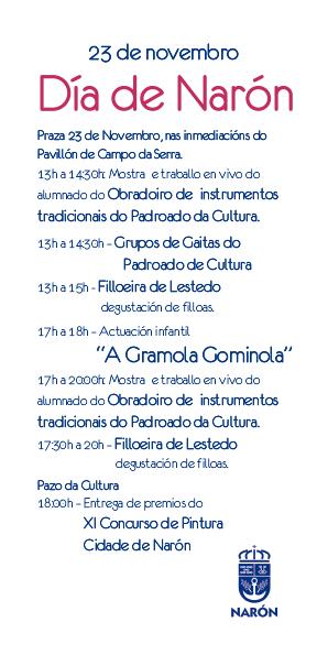 Día de Narón 2019. Programa de actos